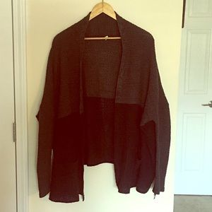 UO BDG Color Block Open Front Knit Cardigan